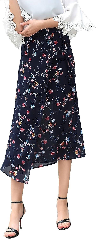 Colorfulworld Women's Printing Chiffon Skirt Midi Dealing full Detroit Mall price reduction A Word