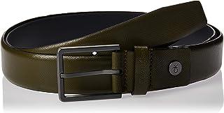 Calvin Klein Men's 3.5CM ADJ.BOMBED SAFFIANO Belt