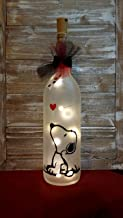 Snoopy Wine Bottle Decoration Glass Gift Mother's Day Birthday