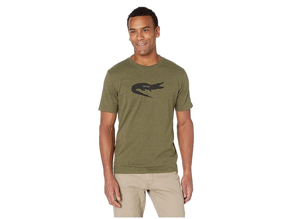 Prana Later Alligator Journeyman T-Shirt (Cargo Green Heather) Men