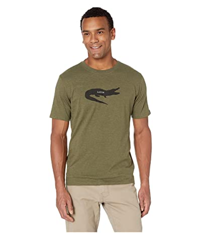 Prana Later Alligator Journeyman T-Shirt (Cargo Green Heather) Men