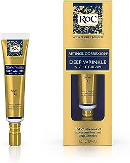 RoC Retinol Correxion Deep Wrinkle Anti-Aging Retinol Night Cream, Oil-Free and Non-Comedogenic, 1 oz