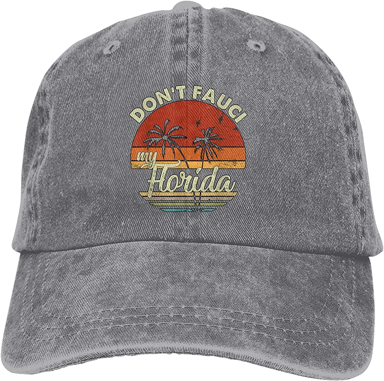 BGWORZD Don't Fauci My Florida 2024 for Patriotic Baseball Caps, Cotton Washed Cowboy Hats, Adjustable Dad Hats