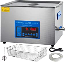 Mophorn 28 and 40khz Dual Frequency Ultrasonic Cleaner 304 Stainless Steel Digital Lab Ultrasonic Cleaner with Heater Timer for Jewelry Watch Glasses Circuit Board Small Parts Dental Instrument (30L)