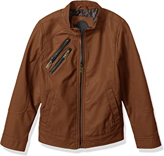 Urban Republic Boys' Faux Leather Perforatted Insert Jacket