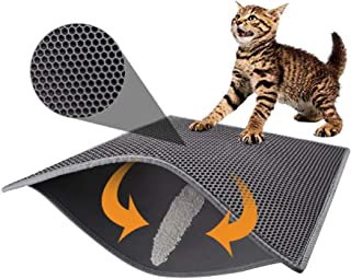 """Pieviev Cat Litter Mat Litter Trapping Mat, 30"""" X 24"""" Inch Honeycomb Double Layer Design Waterproof Urine Proof Trapper Ma..."""