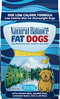 Natural Balance Fat Dogs Low Calorie Dry Dog Food, Chicken Meal, Salmon Meal, Garbanzo..