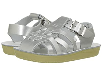 Salt Water Sandal by Hoy Shoes Sun-San Sailors (Infant/Toddler) (Silver) Girls Shoes