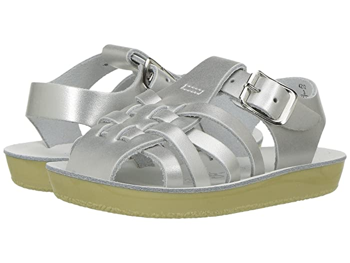Salt Water Sandal by Hoy Shoes  Sun-San - Sailors (Infant/Toddler) (Silver) Girls Shoes