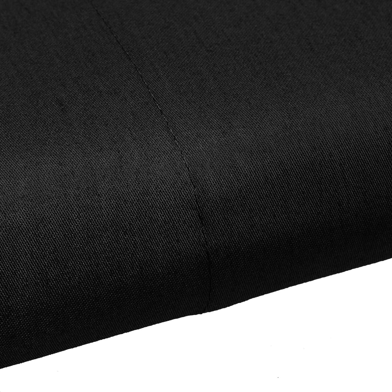 Black 180 x 260 cm Basics Sateen Flat Sheet