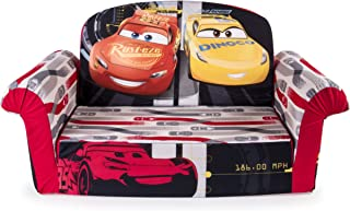 Marshmallow Furniture, Children's 2 in 1 Flip Open Foam Sofa, Disney Pixar Cars 3, by Spin Master