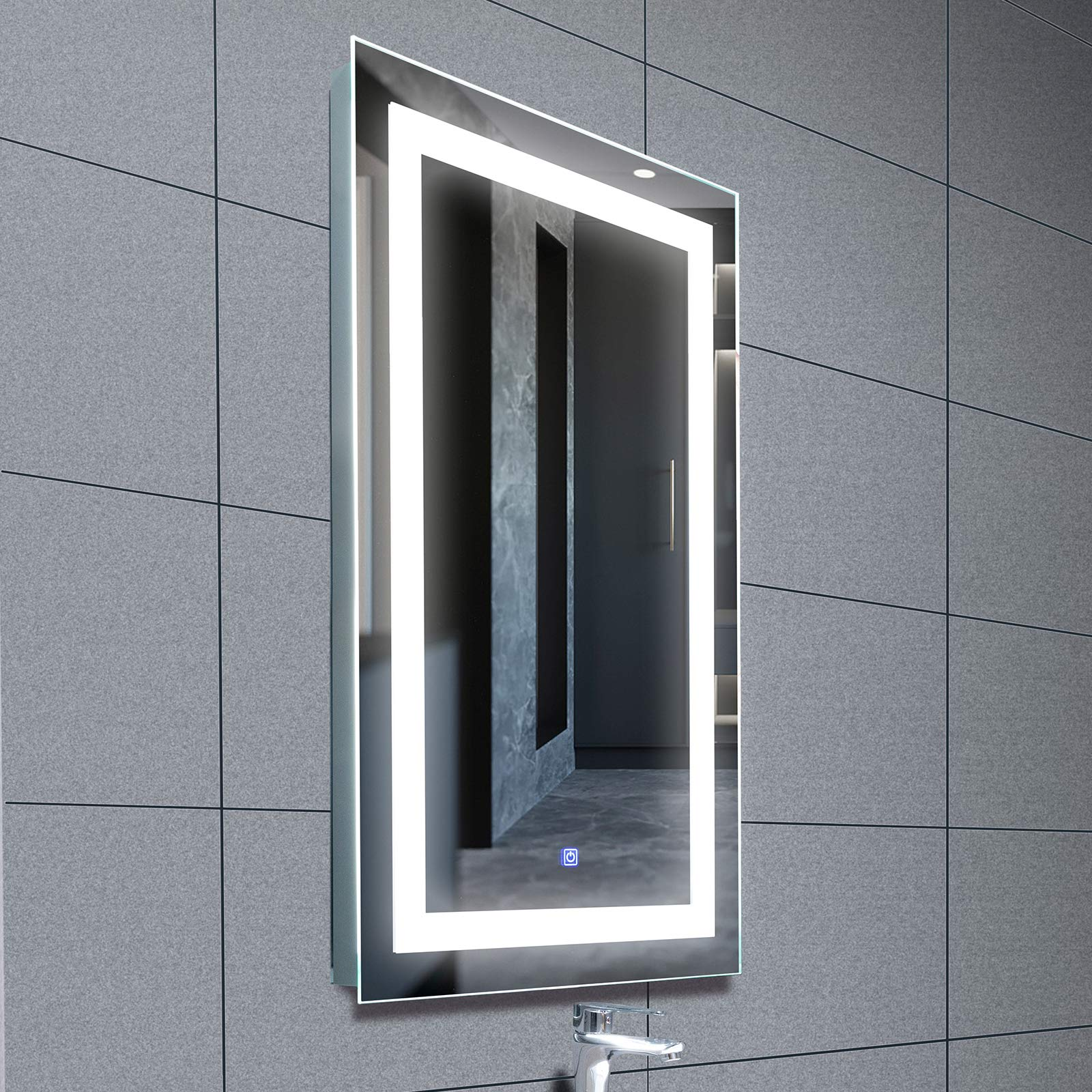 mecor Bathroom Silvered Waterproof Rectangle