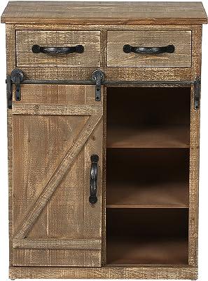 Amazon.com: Armario de madera rústico para puerta de barra ...