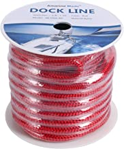 Best 5/8 double braid nylon dock line Reviews