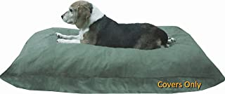 Dogbed4less DIY Do It Yourself Pet Pillow 2 Covers: Pet Bed Duvet Zipper External Cover + Waterproof Liner Internal Case in Medium or Large for Dog and Cat - Covers only