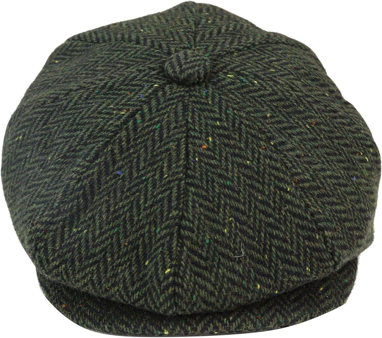 Edwardian Men's Fashion & Clothing 1900-1910s 8 Panel Vintage Baker Boy Hat Newsboy Tweed Wool Herringbone 1920s Peaky  AT vintagedancer.com