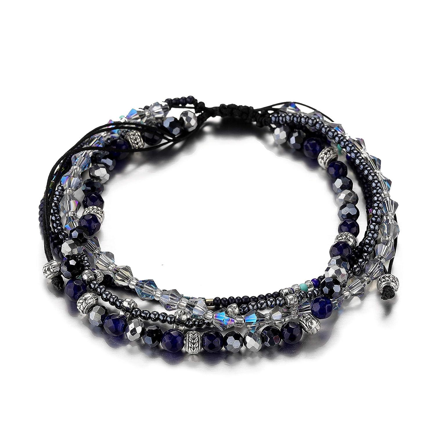 STAREDGE Woman Bohemian Wrap Bracelet Handmade Braided Beach Anklets Bracelets Gift for Girls and Women