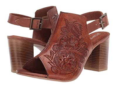 Roper Mika (Tan Floral Toolded Leather) Women