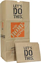 Home Depot Heavy Duty Brown Paper 30 Gallon Lawn and Refuse Bags for Home and Garden (15 Lawn Bags)