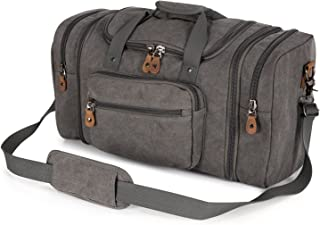 Canvas Duffle Bag for Travel, 50L Duffel Overnight Weekend Bag(Gray)