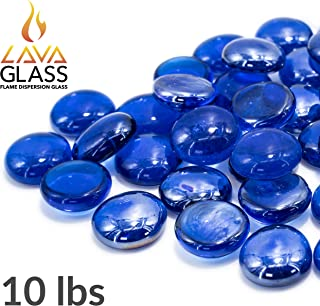Bond Manufacturing 67984 LavaGlass Round Fire Pit Dispersion Glass, 10 lb, Indigo Dream