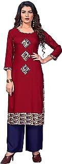 Vbuyz Women's Rayon Straight Kurti(VF-KU-469)