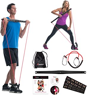 Bodygym Core System Portable Home Gym – Resistance Trainer All-in-One Band + Bar..
