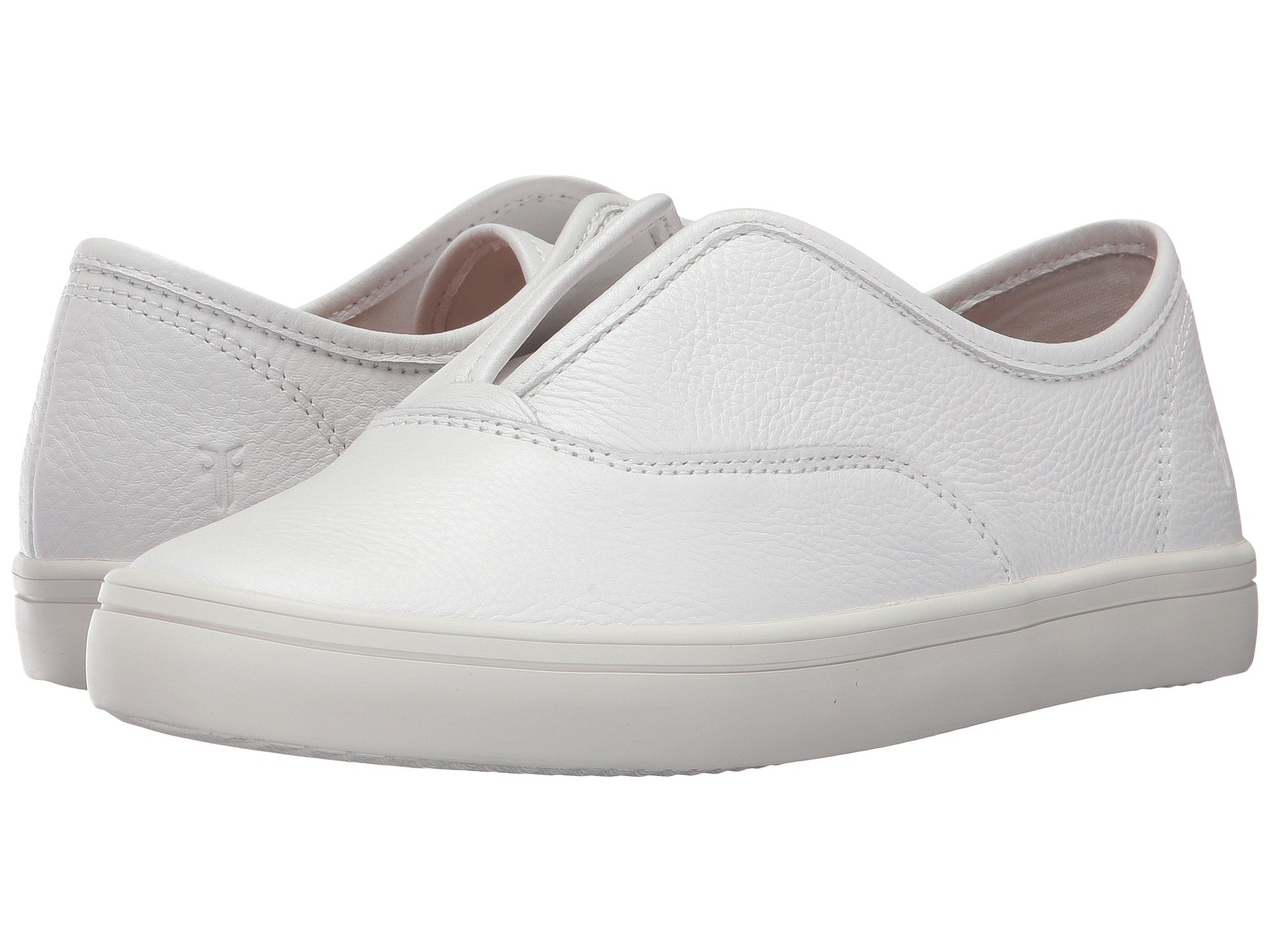 Women'S Maya Leather Slip-On Sneakers in White Leather