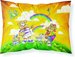 Caroline's Treasures APH0374PILLOWCASE Bears Flying A Kite Fabric Pillowcase, Standard, Multicolor