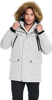 Alpine North Men's Vegan Down Winter Parka with Removable Faux Fur