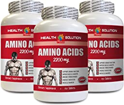 Muscle Building pre Workout Supplement - Amino ACIDS 2200 Mg - Muscle Maker - l-Alanine Capsules - 3 Bottles 450 Tablets