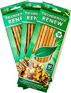 Ticonderoga Number 2 Pencils / Renew - 10 Count (Pack of 3)