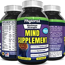 Phytoral Mind Memory Matrix Brain Supplement for Adults to Boost Focus Concentration Mental Performance – Natural Nootropic Pills for Men Women – DMAE Bitartrate Green Tea Bacopa
