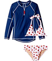 Toobydoo - Poppy Flower Rashguard Set (Infant/Toddler/Little Kids/Big Kids)