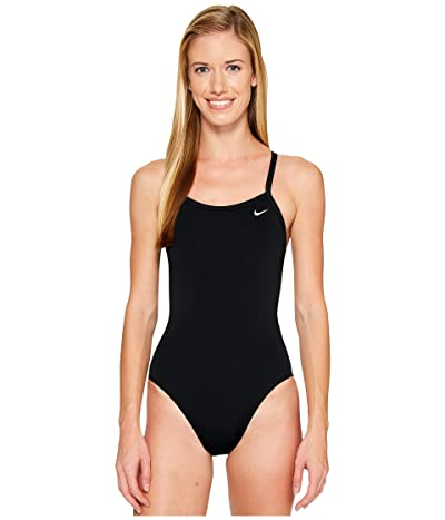 Nike Solid Poly Lingerie Tank One Piece (Black) Women
