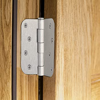 "Design House 181594 3-Pack Hinge 4"", Satin Nickel"