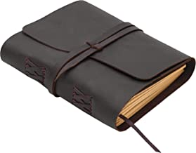 Elizo Brown Leather Journal Lined Pages - Refillable Writing Notebook - Leather Bound Journal for Men and Women - Large Le...