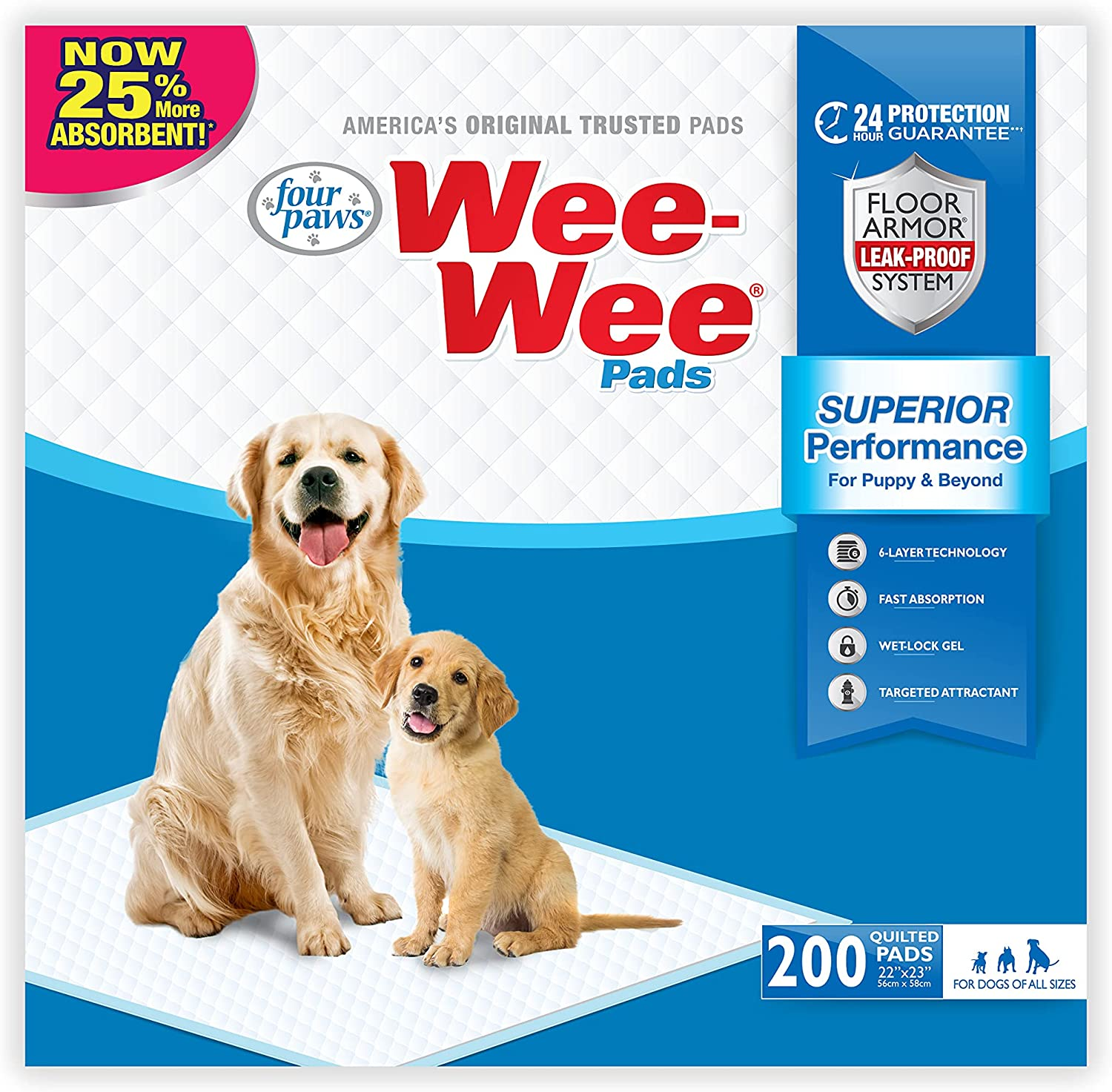 Four Paws Wee-Wee Puppy Training Standard Pads