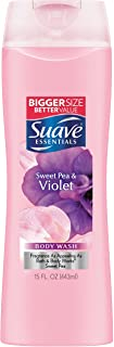 Suave Essentials Body Wash, Sweet Pea and Violet, 15 oz