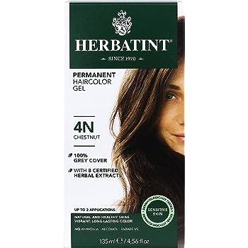 Herbatint Permanent Haircolor Gel, 4N Chestnut, 4.56 Ounce