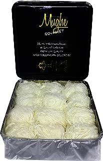 Mughe Luxury Turkish Cotton Candy Pismaniye Sweet (12 Fluffs) - Special Halva Candy Gift Box - Best Gourmet Confectionery Pishmaniye - Traditional Floss Halvah Gifts