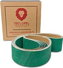 2 X 42 Inch 120 Grit Metal Grinding Zirconia Sanding Belts, 6 Pack