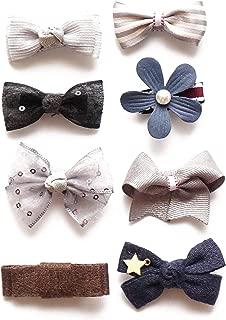 Belle Beau Baby Girls Hair Bows, Hair Clips, Ribbon Lined Alligator Hair Clips