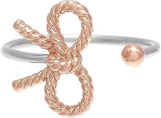 خاتم نحاسي مطلي بالذهب الوردي والفضة للنساء من اوليفيا بورتون -OBJ16VBR05
