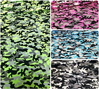 Mini Camouflage Pattern Matte Foil on Bright Heavy Stretch Nylon Spandex Fabric By the Yard (Neon Pink)