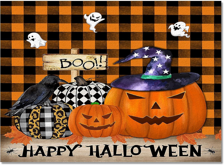 Indoor Area Shipping included Rug Kitchen Bedroom Floor Tampa Mall Pumpk Halloween Mats Happy