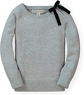 Girls' Long Sleeve Bow Neck Pullover Sweater