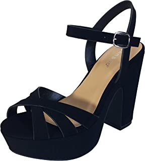 Women's Simple Platform Chunky Heel Sandal