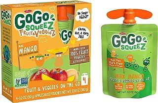 Sponsored Ad - GoGo squeeZ fruit & veggieZ, Apple Mango Butternut Squash, 3.2 Ounce (48 Pouches), Gluten Free, Vegan Frien...
