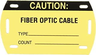 caution fiber optic labels